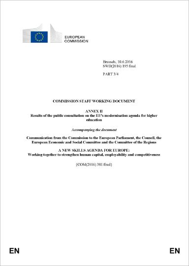 Annex II - Results of the public consultation on the EU's modernisation agenda for higher education