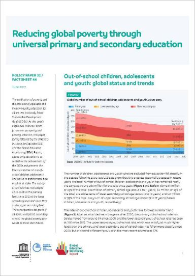 Reducing global poverty through universal primary and secondary education (2017)