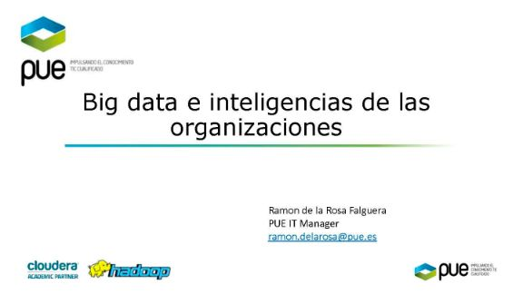 Big data e inteligencias de las organizaciones