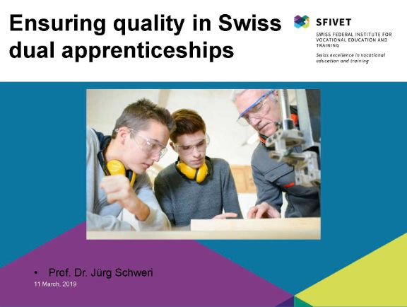 Ensuring quality in Swiss dual apprenticeships
