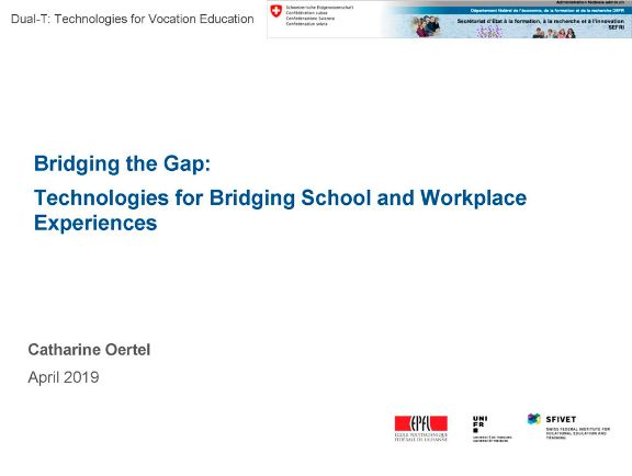 Bridging the Gap: Technologies for Bridging School and Workplace Experiences