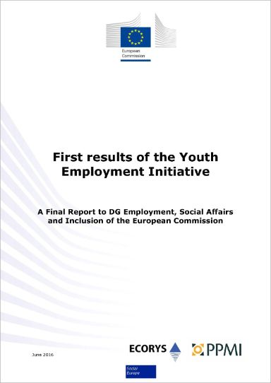 First results of the Youth Employment Initiative