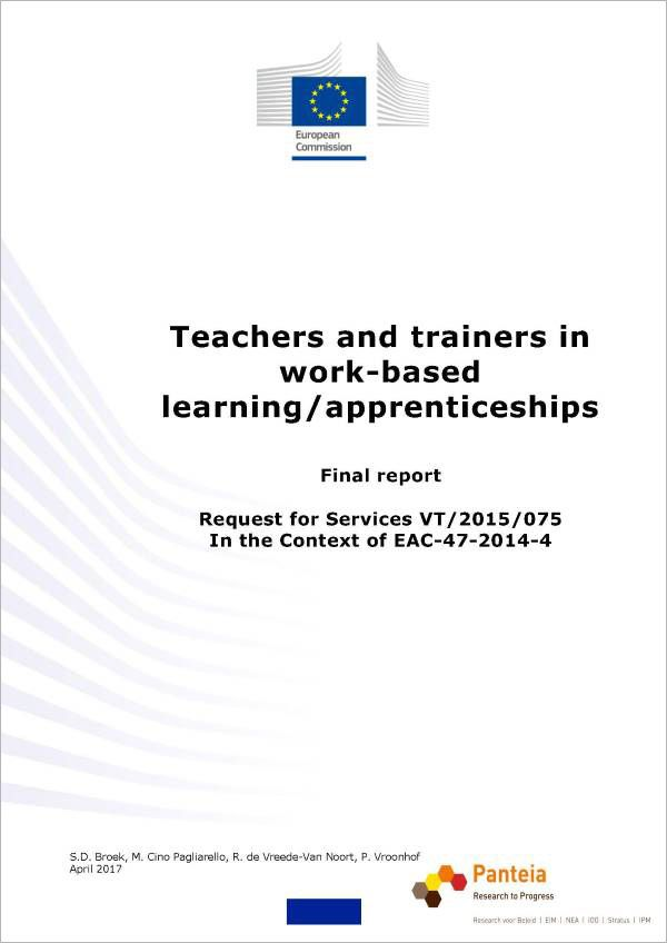 Teachers and trainers in work-based learning/apprenticeships