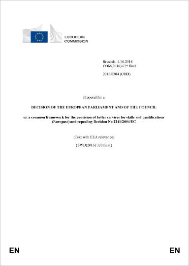The new Europass framework. Decision of the European Parliament and of the Council