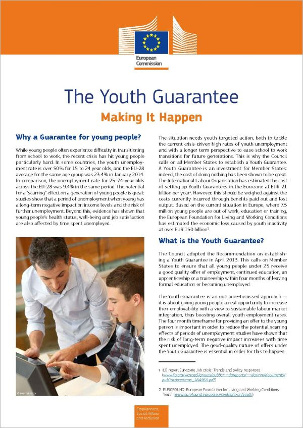 The Youth Guarantee. Making It Happen