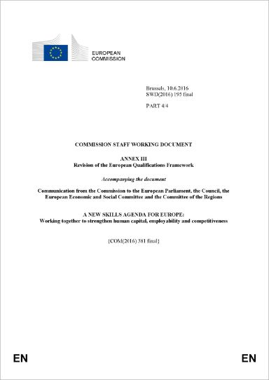 Annex III - Revision of the European Qualifications Framework