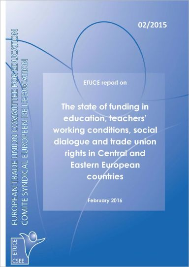 ETUCE report on The state of funding in education, teachers' working conditions... (2015)